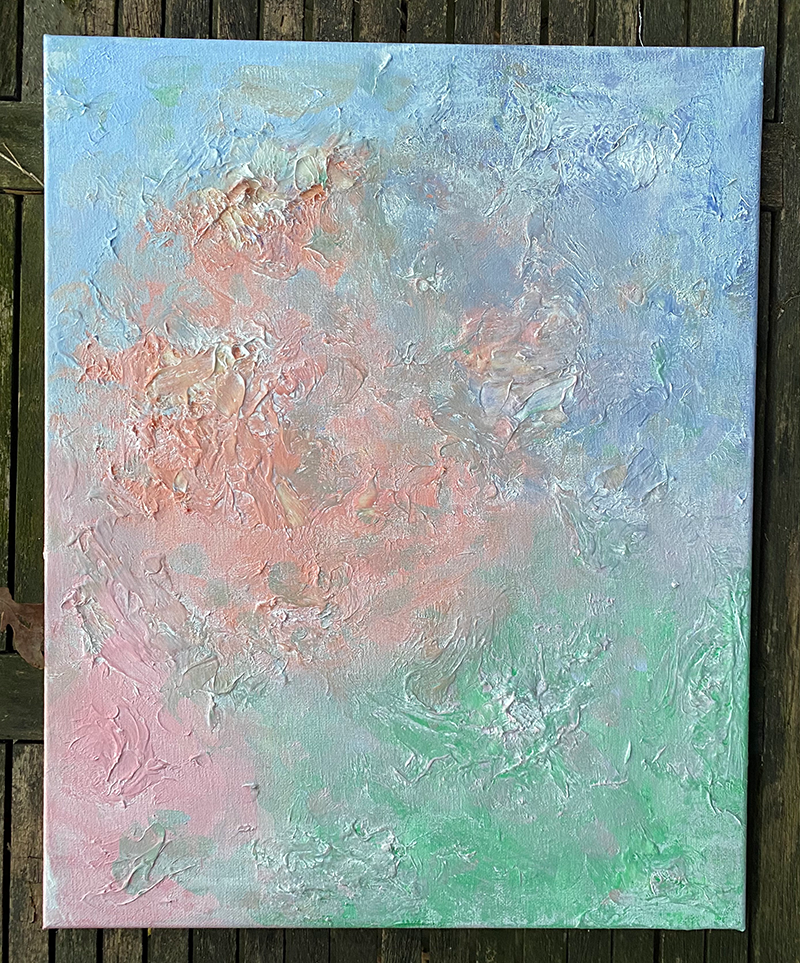 Painting of pastel colors.